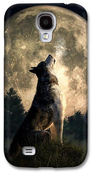 Howling Wolf Galaxy S4 Case by Daniel Eskridge
