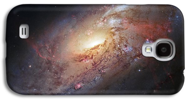 Hubble View Of M 106 Galaxy S4 Case by Adam Romanowicz
