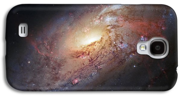Hubble View Of M 106 Galaxy S4 Case