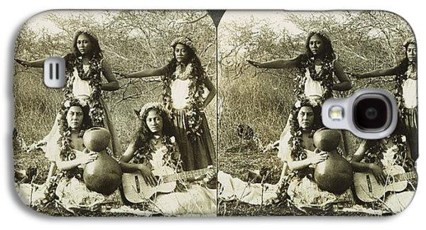 Hula Dancers, C1905 Galaxy S4 Case by Granger