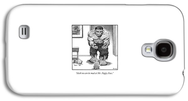 Hulk No Can Be Mad At Mr. Puppy Face Galaxy S4 Case