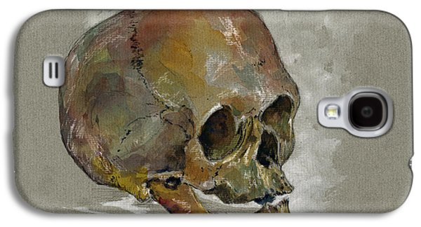 Human Skull Study Galaxy S4 Case