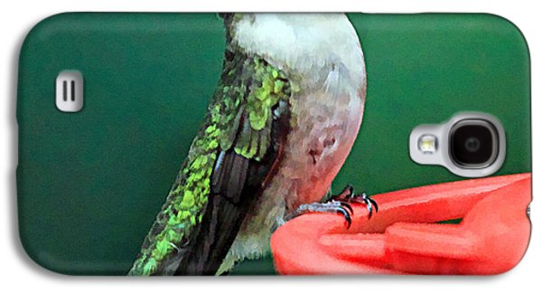 Hummingbird Perched On Feeder Galaxy S4 Case by Geraldine Scull