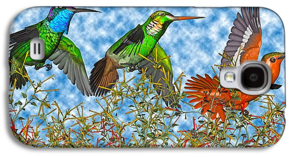 Hummingbirds Two Of Two Galaxy S4 Case by Betsy Knapp
