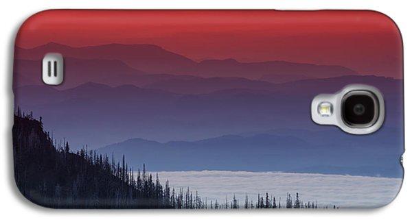 Mountain Sunset Galaxy S4 Case - Hurricane Ridge Sunset by Mark Kiver