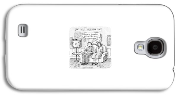 Husband And Wife Discuss Summer Plans On A Couch Galaxy S4 Case by Roz Chast