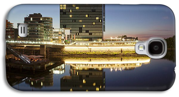Hyatt Hotel At Dusk, Media Harbour Galaxy S4 Case by Panoramic Images