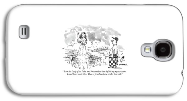 I Am The Lady Of The Lake Galaxy S4 Case by Pat Byrnes