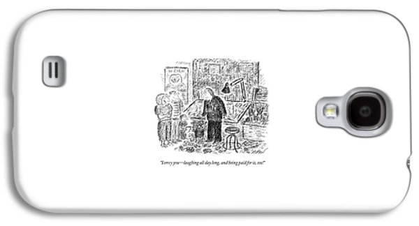 I Envy You - Laughing All Day Long Galaxy S4 Case by Edward Koren