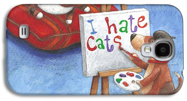 I Hate Cats Galaxy S4 Case by Peter Adderley