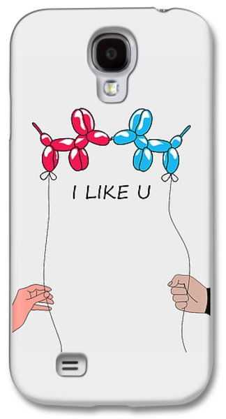 I Like You 2 Galaxy S4 Case by Mark Ashkenazi