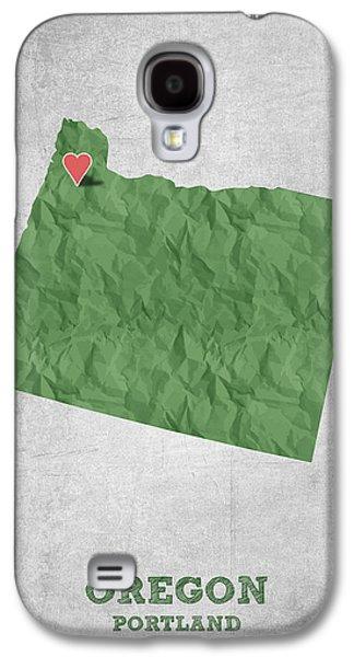 I Love Portland Oregon- Green Galaxy S4 Case by Aged Pixel
