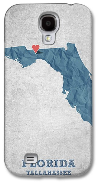 I Love Tallahassee Florida - Blue Galaxy S4 Case by Aged Pixel