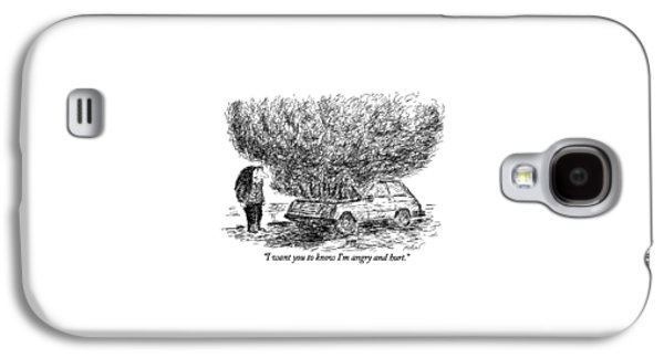 I Want You To Know I'm Angry And Hurt Galaxy S4 Case by Edward Koren