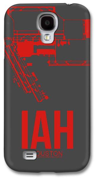 Iah Houston Airport Poster 1 Galaxy S4 Case by Naxart Studio