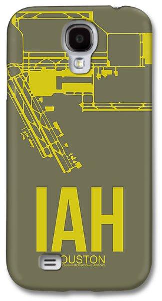 Iah Houston Airport Poster 2 Galaxy S4 Case by Naxart Studio