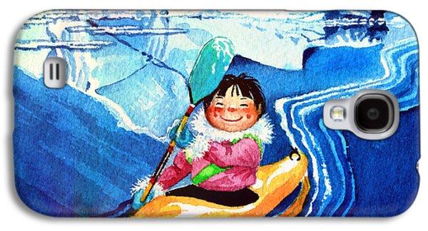 Iceberg Kayaker Galaxy S4 Case by Hanne Lore Koehler