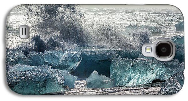 Icebergs And Breaking Wave Galaxy S4 Case by Dr Juerg Alean