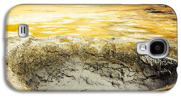 Orange Galaxy S4 Case - Iceland Geothermal Area Hverir Namaskard by Matthias Hauser
