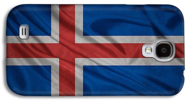Icelandic Flag Waving On Canvas Galaxy S4 Case by Eti Reid