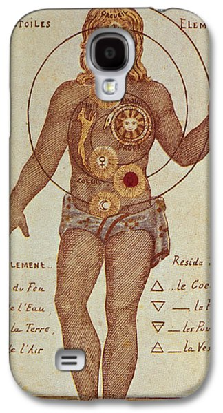 Illustration From Theosophica Practica, Showing The Seven Chakras, 19th Century Galaxy S4 Case by Indian School