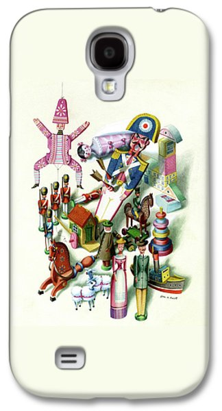 Illustration Of A Group Of Children's Toys Galaxy S4 Case by Jan B. Balet