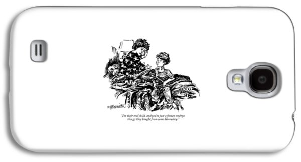 I'm Their Real Child Galaxy S4 Case by William Hamilton