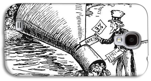 Immigration Cartoon, 1921 Galaxy S4 Case
