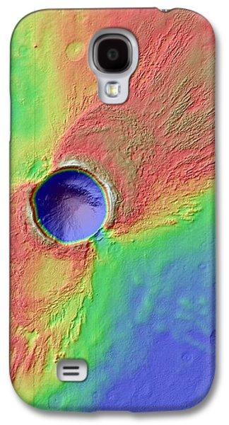 Impact Crater In Arcadia Planitia Galaxy S4 Case