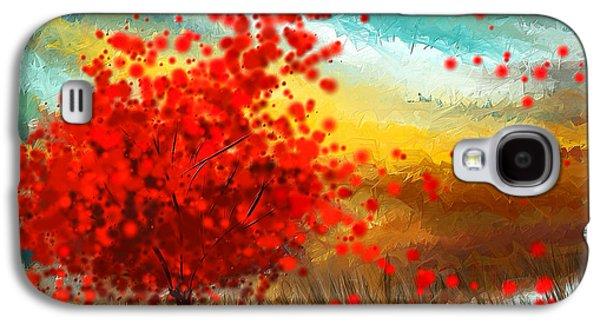 Impressionistic Beauty- Autumn Impressionist Galaxy S4 Case by Lourry Legarde