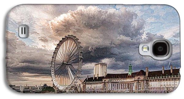 Impressions Of London - London Eye Dramatic Skies Galaxy S4 Case