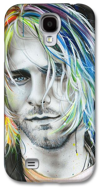 Kurt Cobain - ' In Debt For My Thirst ' Galaxy S4 Case by Christian Chapman Art