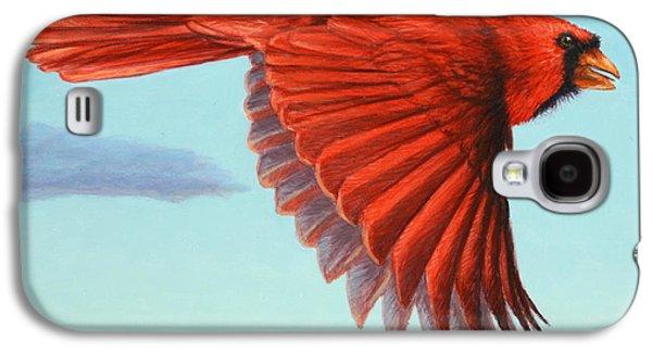 Cardinal Galaxy S4 Case - In Flight by James W Johnson