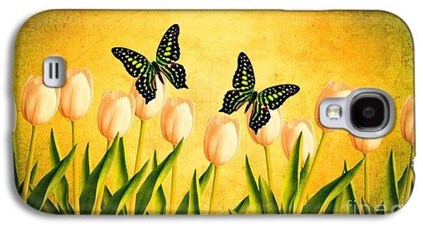 In The Butterfly Garden Galaxy S4 Case by Edward Fielding