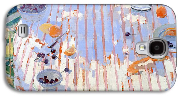 In The Garden Table With Oranges  Galaxy S4 Case