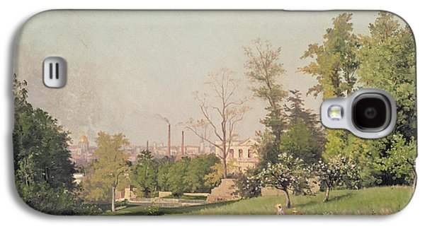 In The Park At Issy-les-moulineaux, 1876 Oil On Canvas Galaxy S4 Case by Prosper Galerne