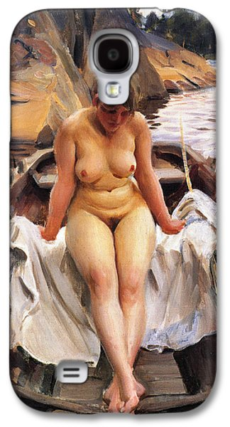 In Werners Rowing Boat Galaxy S4 Case by Anders Zorn