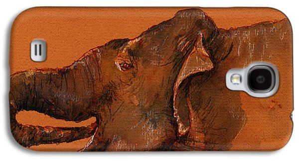 Indian Elephant Galaxy S4 Case by Juan  Bosco