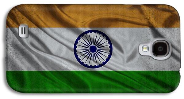 Indian Flag Waving On Aged Canvas Galaxy S4 Case by Eti Reid