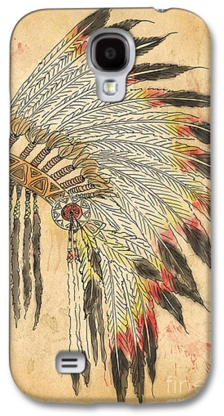 Indian Head Dress-b Galaxy S4 Case