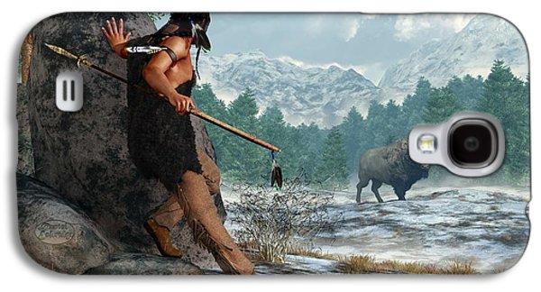 Indian Hunting With Atlatl Galaxy S4 Case by Daniel Eskridge