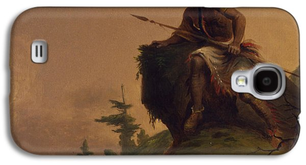 Indian On A Cliff Galaxy S4 Case by Jesse Talbot