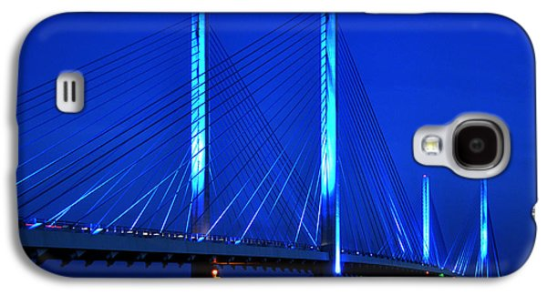 Indian River Bridge At Night Galaxy S4 Case