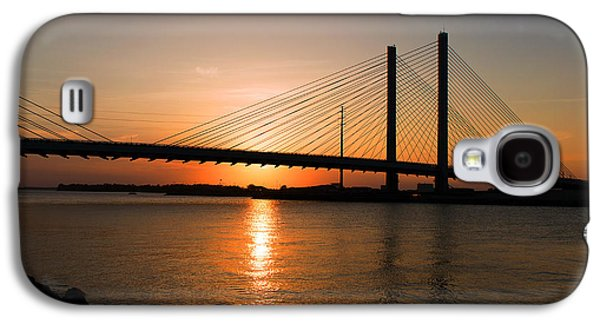Indian River Bridge Sunset Reflections Galaxy S4 Case