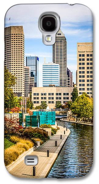 Indianapolis Skyline Picture Of Canal Walk In Autumn Galaxy S4 Case by Paul Velgos