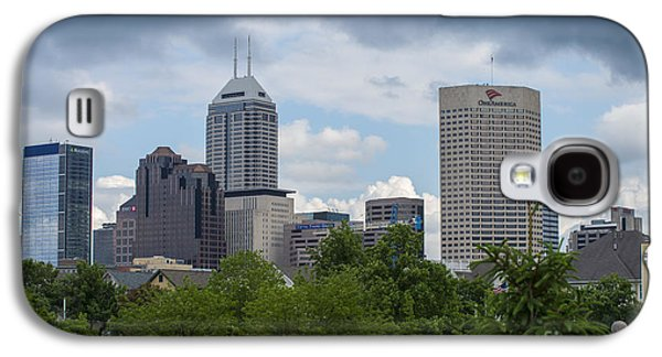 Indianapolis Skyline Storm 3 Galaxy S4 Case by David Haskett