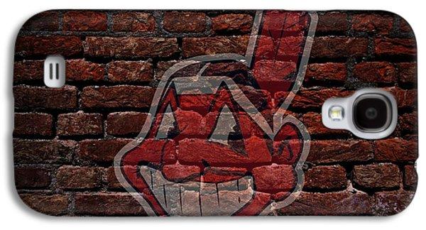 Indians Baseball Graffiti On Brick  Galaxy S4 Case