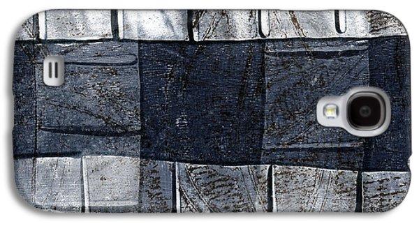 Indigo Squares 1 Of 5 Galaxy S4 Case by Carol Leigh