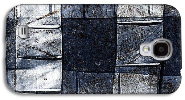 Indigo Squares 2 Of 5 Galaxy S4 Case by Carol Leigh