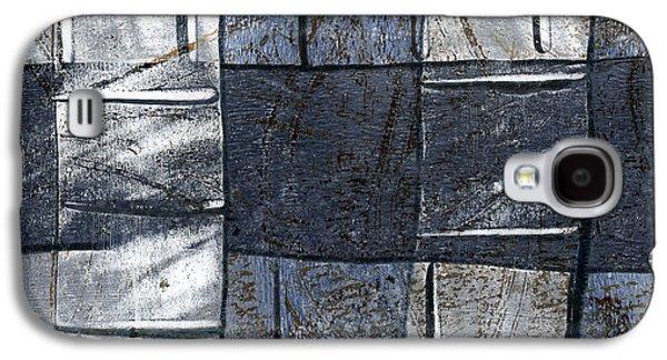 Indigo Squares 3 Of 5 Galaxy S4 Case by Carol Leigh